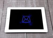 Symbole de lettre graphique d'instrument de PC de tablette Photographie stock