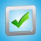 Symbole de liste de contrôle de vecteur Image libre de droits