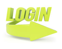 Symbole de login Images libres de droits