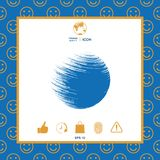 Symbole de Logo Earth illustration stock