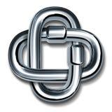 Symbole de maillons de chaîne de force et d'unité Photo stock