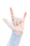 Symbole de main d'amour Image stock