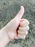 symbole de main de ‰ de ¹ d'à Photo stock