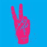 Symbole de main de paix Photographie stock libre de droits