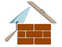 symbole de maison de construction Photographie stock libre de droits