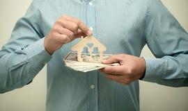 Symbole de maison et de famille Image libre de droits