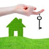 Symbole de maison verte Photos libres de droits