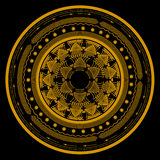 Symbole de mandala en cercle se composant de plusieurs modèles et ornements Image libre de droits