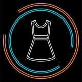 Symbole de mannequin, robe occasionnelle de femme de vecteur illustration libre de droits