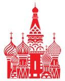 Symbole de Moscou - la cathédrale de Basil de saint, Russie illustration libre de droits