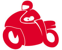 Symbole de moto photo stock