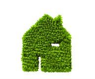 Symbole de nature de maison verte Photographie stock libre de droits