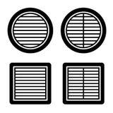 Symbole de noir de gril de ventilation Photos libres de droits
