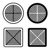 Symbole de noir de gril de ventilation Image libre de droits