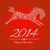 Symbole de nouvelle année de cheval Photos libres de droits