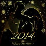 Symbole de nouvelle année de cheval Photo stock