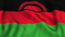 Symbole de ondulation Malawien de drapeau du Malawi illustration libre de droits
