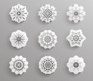 Symbole de papier de flocon de neige Images stock