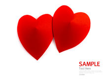 Symbole de papier de forme de coeur pour le jour de valentines avec l'espace de copie Photos stock