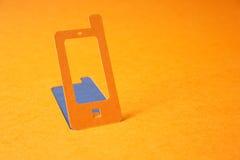 Symbole de papier de téléphone portable Image stock