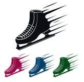 Symbole de patin de glace, illustration de vecteur Image libre de droits