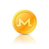 Symbole de pièce de monnaie de Monero, icône, signe, emblème Illustration de vecteur Photos stock