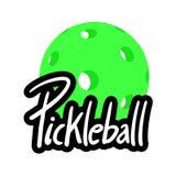 Symbole de Pickleball illustration de vecteur
