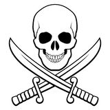 Symbole de pirate Photo stock