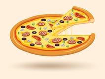 Symbole de pizza de fromage de viande illustration stock