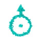 Symbole de planète d'Uranus images libres de droits