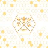 Symbole de plongeur d'abeille et de miel d'ensemble Images libres de droits
