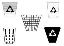 Symbole de poubelle Photo stock