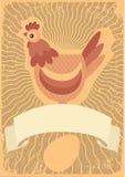Symbole de poulet Images stock