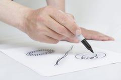 symbole de pour cent d'écriture sur le livre blanc. Photo libre de droits