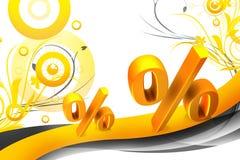 Symbole de pourcentage Photographie stock