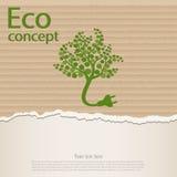 Symbole de prise d'écologie et de déchets avec l'eco illustration de vecteur