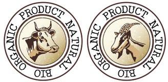 Symbole de produit organique et naturel Photographie stock libre de droits