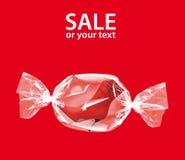 Symbole de promotion : gaine femelle enveloppée comme sucrerie Images stock