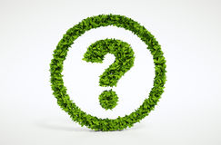Symbole de question d'écologie avec le fond blanc Images stock