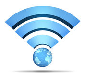 Symbole de réseau sans fil Photographie stock libre de droits