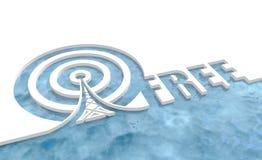 Symbole de réseau sans fil de WI fi Photo libre de droits