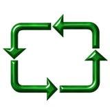 Symbole de réutilisation carré Images libres de droits