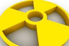 Symbole de radioactivité Photographie stock libre de droits