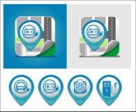 Symbole de remplissage de voiture électrique Photographie stock