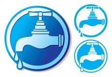 Symbole de robinet d'eau illustration libre de droits