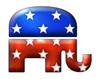 symbole de républicain de l'éléphant 3D Photographie stock
