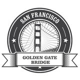 Symbole de San Francisco - golden gate bridge Image libre de droits