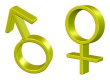 Symbole de sexe Photographie stock libre de droits