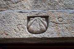 Symbole de Shell de St James Way images stock