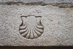 Symbole de Shell de St James Way photographie stock libre de droits